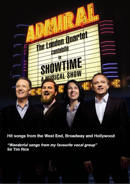 Cantabile - The London Quartet. Showtime! West End, Broadway, Hollywood