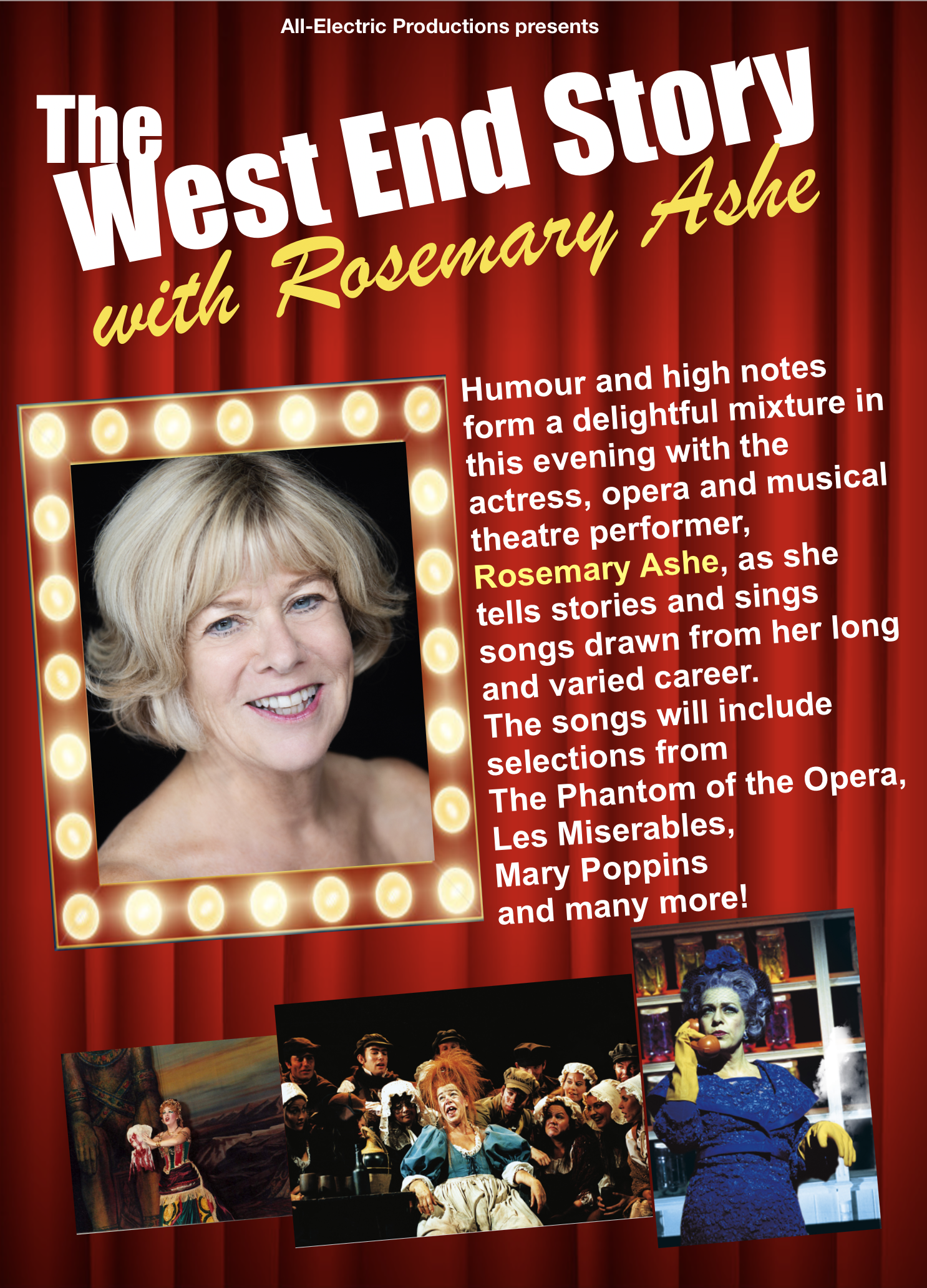 Rosie Ashe - The West End Story - All Electric Productions